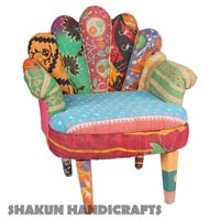Vintage Kantha Upholestered Chair (Item Code : CHCL0610)