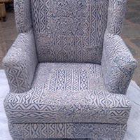Printed Cotton Rug Upholstered Maharaja Chair (Item Code : CHCP0531)