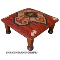 Wool Jute Kilim  Foot Stools