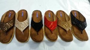 Ladies Velvet Sandals