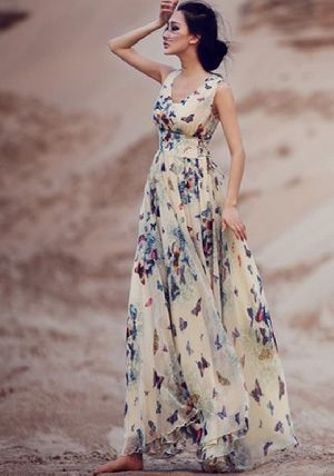 Ladies Maxi Dress 02