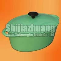 Green Enamel Oval Oven