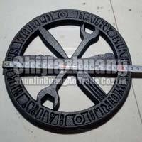 Sjga 22cm Black Round Cast Iron Trivet
