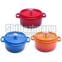 Colorful Enameled Cast Iron Casserole Pot