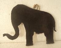 Blackboard Elephant Statue