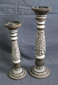 Wooden Candle Stands 01