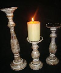 Wooden Candle Stands 02