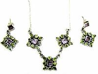 Sterling Silver Necklace Set Ec-s1