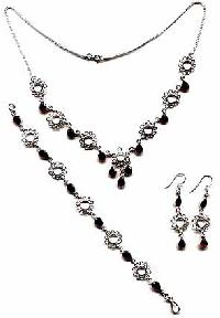 Sterling Silver Necklace Set- EC S2