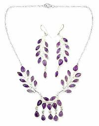 Sterling Silver Necklace Set- EC S4