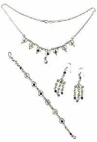 Sterling Silver Necklace Set- EC S6
