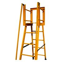 Self Supporting Platform Type Ladder with Handrail