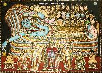Anantha Padmanabha Tanjore Painting (10004)