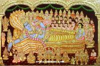 Anantha Padmanabha Tanjore Painting (10005)