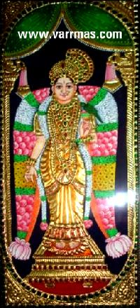 Andal Tanjore Painting (10022)