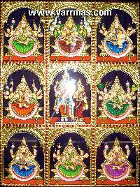 Ashtalakshmi Tanjore Painting (10055)