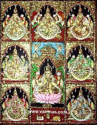 Ashtalakshmi Tanjore Painting (10056)