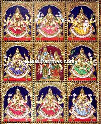 Ashtalakshmi Tanjore Painting (10058)