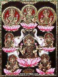 Ashtalakshmi Tanjore Painting (10061)