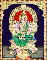 Buvaneswari Tanjore Painting (10063)