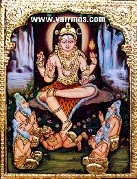 Dakshinamurthy Tanjore Painting (10128)