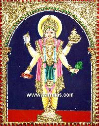 Dhanvantari Tanjore Painting (10204)