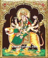 Durga Tanjore Painting (10210)