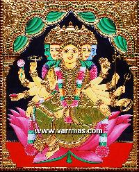 Gayathri Tanjore Painting (10318)