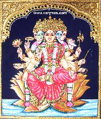 Gayathri Tanjore Painting (10319)