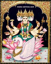 Gayathri Tanjore Painting (10321)
