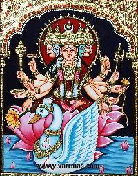 Gayathri Tanjore Painting (10856)
