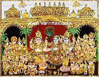 Girija Kalyanam Tanjore Painting (10322)