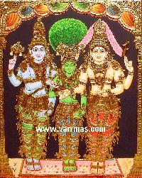 Girija Kalyanam Tanjore Painting (10323)