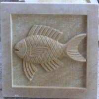 Fish Carved on Stone