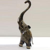Wrought Iron Elephant Raising Trunk