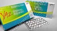 YAZ Birth Control Tablets