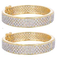 Gold Plated Cubic Zircon Bangles