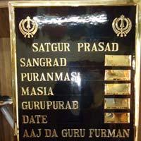 Metal Brass Board 02