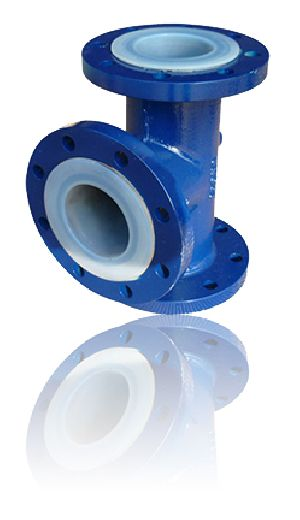 PTFE Lined Equal and Unequal Pipe Tee