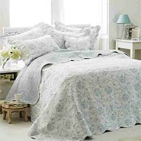 Etoille Quilted Bedspread (Blue)