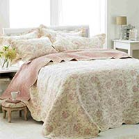 Etoille Quilted Bedspread (Pink)
