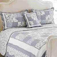 Toulouse Floral Woven Cotton Quilted Pillow Sham