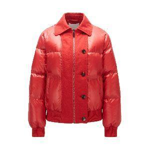 Regular Fit Down Jacket in Water Repellent Fabric
