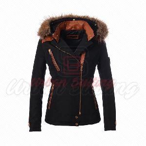 New Black Fur Hood Jacket