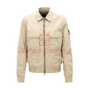Regular Fit Jacket in Two Tone Technical Fabric