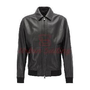 Aviator Jacket in Lambskin Nappa Leather