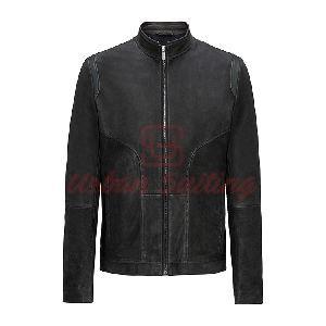 Leather Biker Jacket in a Slim Fit