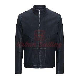 Leather Biker Jacket in a Slim Fit 2