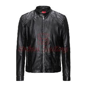 Leather Jacket in a Slim Fit