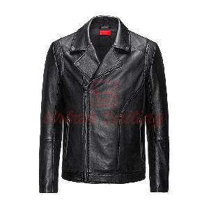 Slim Fit Biker Jacket in Nappa Leather